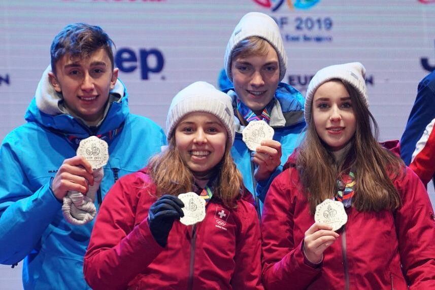 EYOF 2019: Silbermedaille für Malin, Max, Xenia und Jan